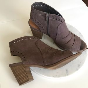 Sonoma Heeled Ankle Booties Open Toe Sz 10